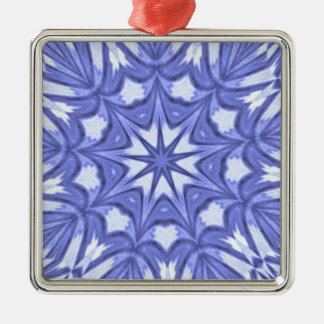 Periwinkle Star Dust Kaleidoscope Metal Ornament