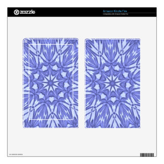 Periwinkle Star Dust Kaleidoscope Kindle Fire Decals
