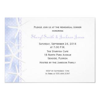 Periwinkle Starfish Wedding Rehearsal Dinner Card