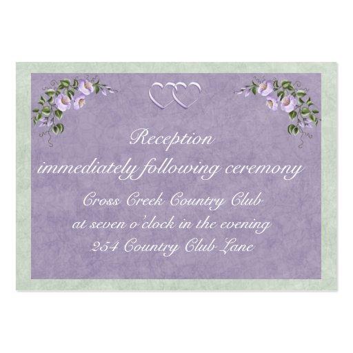 Periwinkle Wedding Invitation Reception Insert Business