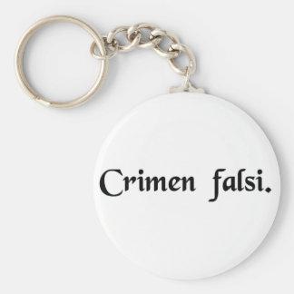 Perjury Basic Round Button Keychain