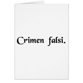 Perjury Card