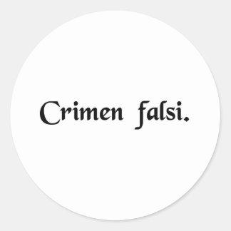 Perjury Classic Round Sticker