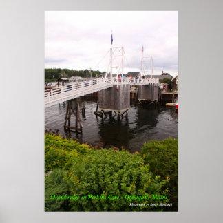 Perkins Cove  Drawbridge - Ogunquit maine Poster