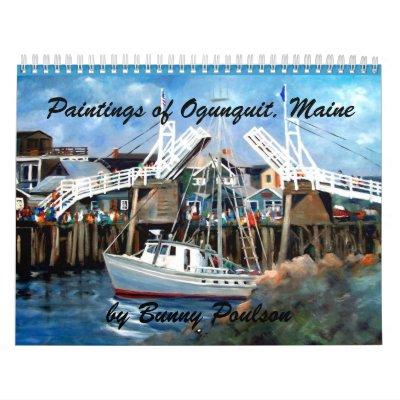 Perkins Cove, Ogunquit, Maine Wall Calender Calendars