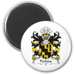 Perkins Family Crest 2 Inch Round Magnet