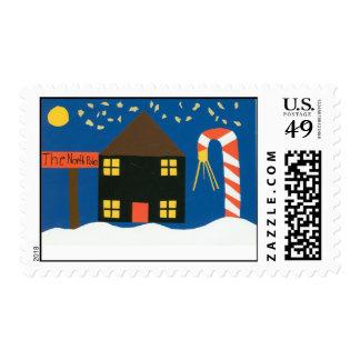 Perkins Holiday Stamp Art
