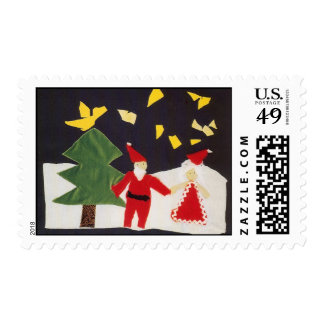 Perkins Holiday Stamp Art