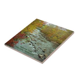 Perkiomen Creek in Autumn  Green Lane Pennsylvania Ceramic Tile
