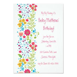 Perky Floral Border Invitation