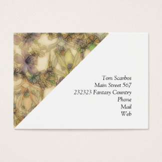 perky floral (I) Business Card