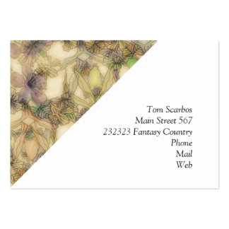 perky floral (I) Large Business Card