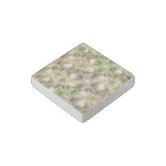 perky floral (I) Stone Magnet