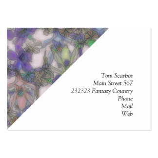 perky floral purple (I) Large Business Card