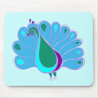 Perky Peacock Graphic Mouse Pad