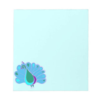 Perky Peacock Graphic Memo Note Pads