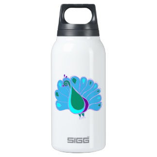 Perky Peacock Graphic Thermos Water Bottle