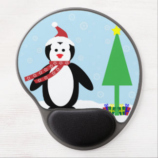 Perky Pretty Christmas Penguin (Customize It!) Gel Mouse Pad