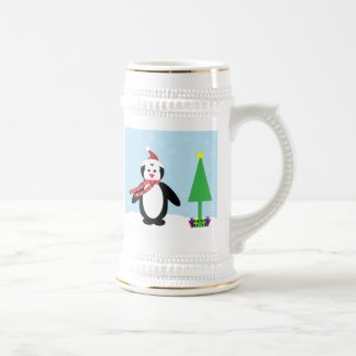 Perky Pretty Christmas Penguin Customize It Coffee Mugs