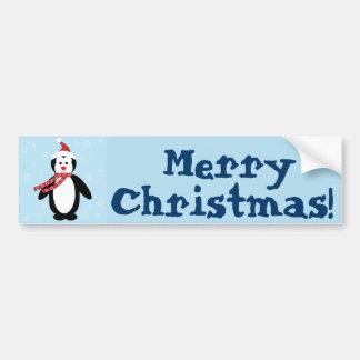 Perky Pretty Penguin in the Snow (Customize It!) Bumper Stickers
