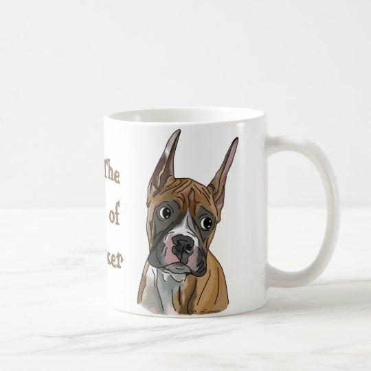 Perky Red Fawn Boxer Dog Coffee Mug