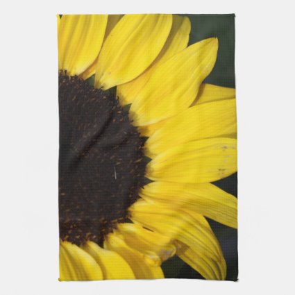 Perky Sunflower Hand Towel