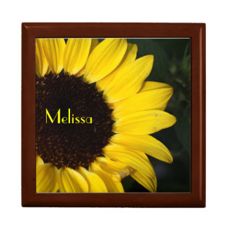 Perky Sunflower Personalized Jewelry Boxes