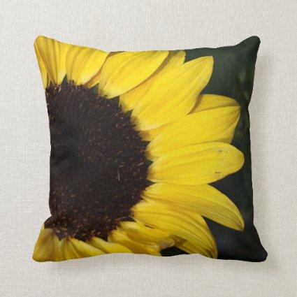 Perky Sunflower Throw Pillow