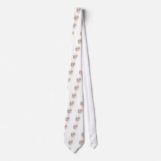 Perky White Easter Bunnies and Girl in Pink Dress Tie