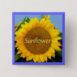Perky Yellow Sunflower Button