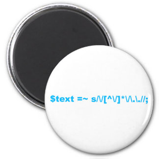 Perl regular expression 2 inch round magnet