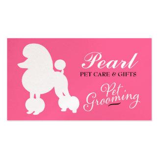 Perla 311 la preparación del mascota del caniche tarjetas de visita