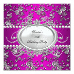 Perla blanca púrpura del rosa del damasco de la comunicados personalizados