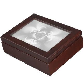 Perla blanca torcida caja de recuerdos