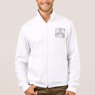 Perla blanca torcida chaqueta