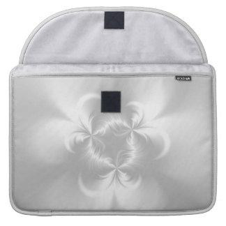 Perla blanca torcida funda para macbooks