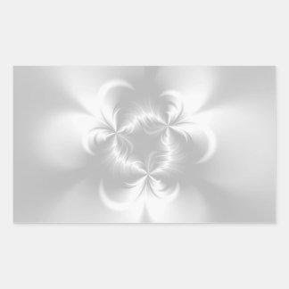 Perla blanca torcida pegatina rectangular