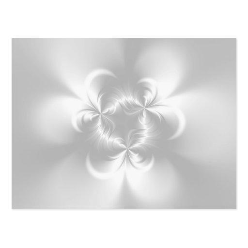 Perla blanca torcida tarjetas postales