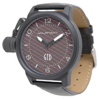 Perla de acero industrial personalizada de la relojes de pulsera