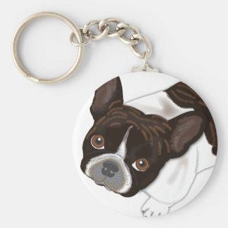 Perla de Bailey el perro de Frenchie Llaveros Personalizados