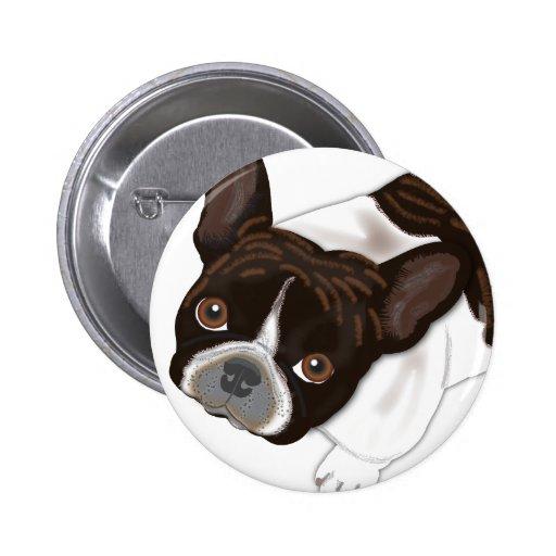 Perla de Bailey el perro de Frenchie Pin Redondo 5 Cm