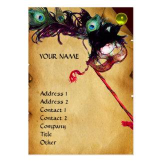 Perla de la gema del damasco del pergamino del tarjetas de visita grandes