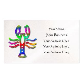 Perla de la muestra de la estrella del zodiaco del tarjeta de visita