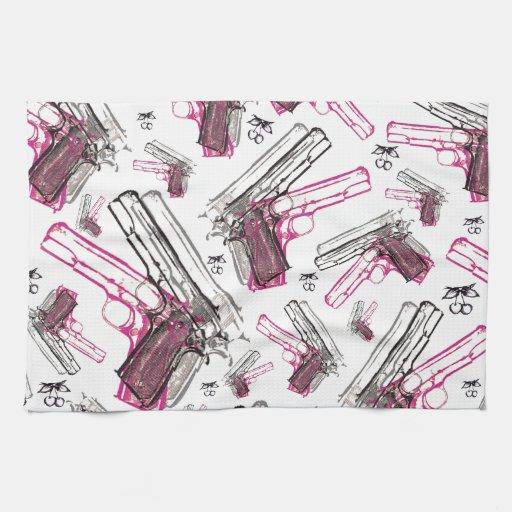 Perla de la pistola, arma peculiar y modelo de las toallas