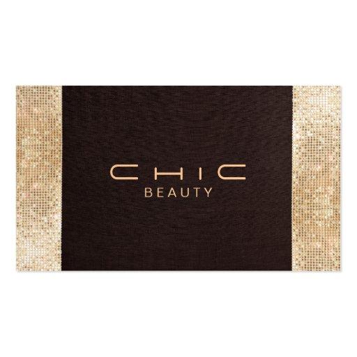 Perla de lino elegante de la mirada de la tarjetas de visita