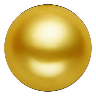 """Perla de oro invitación 5.25"""" x 5.25"""""""