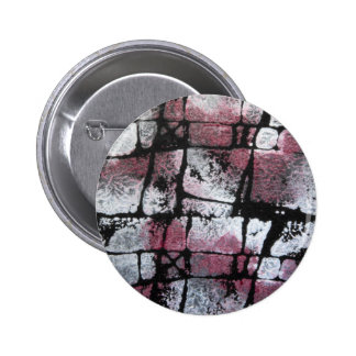 Perla de rubíes en negro pin