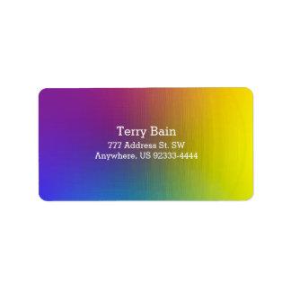 Perla del arco iris etiquetas de dirección