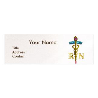 Perla del emblema del caduceo NR de la ENFERMERA y Tarjetas De Visita Mini