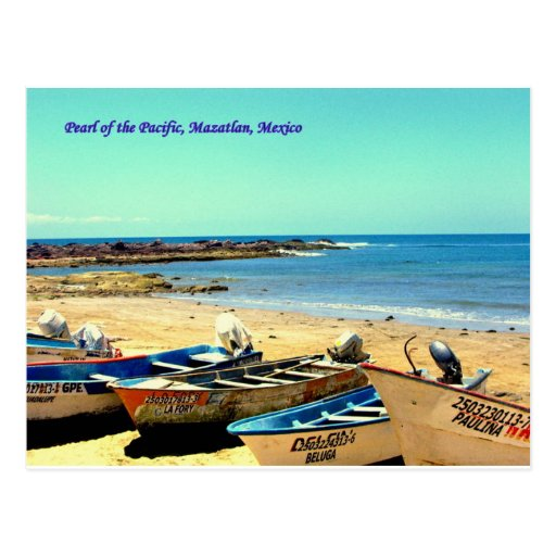 Perla del Pacífico, barcos de Mazatlan México Tarjeta Postal